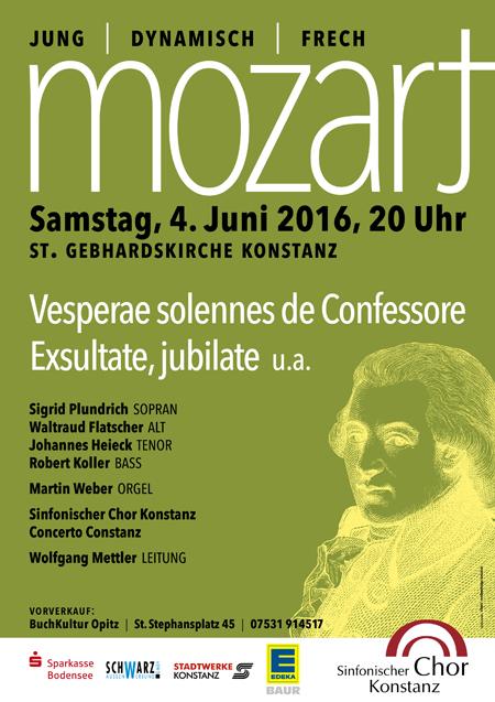 Konzertplakat Mozart